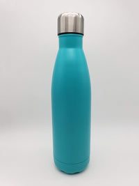 Turquoise Engraved 17oz Cola Water Bottle - Creatively Crowned Engraving