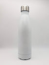 White Engraved 17oz Cola Water Bottle - Creatively Crowned Engraving