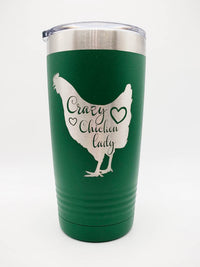 Crazy Chicken Lady Engraved Polar Camel Tumbler Sunny Box
