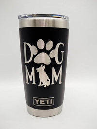 Dog Mom - German Shepherd Engraved YETI Tumbler