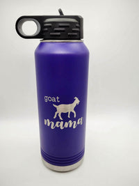 Goat Mama Engraved 32oz Polar Camel Water Bottle Purple - Sunny Box