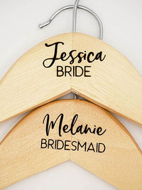 Engraved Maple Dress Hanger Wedding Party Bride Bridesmaid by Sunny Box