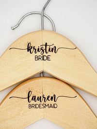 Wedding Party Engraved Maple Hanger3