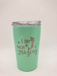 I Am Mermazing - Engraved 12oz Kids Tumbler - Sunny Box
