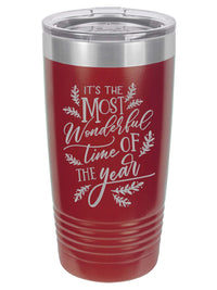 It's the Most Wonderful Time of the year - Christmas Engraved Polar Camel Tumbler - Sunny Box