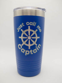 Just Call Me Captain - Engraved 20oz Blue Polar Camel Tumbler - Sunny Box