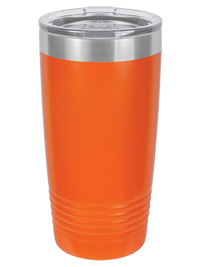 Engraved Polar Camel 20oz Orange Tumbler Sunny Box