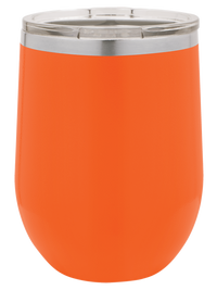 Engraved Polar Camel 12oz Stemless Wine Orange