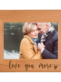 Love You More - Engraved Alder Wood Picture Frame - Sunny Box