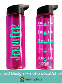 Personalized Water Bottle with Water Tracker - Sunny Box