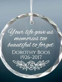 Personalized Engraved Memorial Ornament - Sunny Box