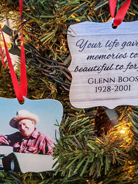 Memorial Photo Ornament - Christmas Gift - Sunny Box