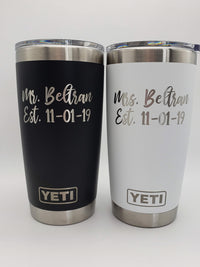 Mr & Mrs Personalized YETI Tumblers