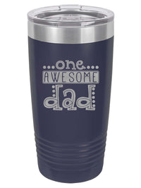 One Awesome Dad Engraved 20oz Navy Tumbler Sunny Box