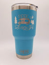 Seek Adventure Camping Engraved 30oz YETI Tumbler Reef Blue