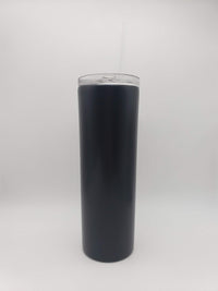 Engraved 20oz Skinny Tumbler Black - Creatively Crowned Engraving