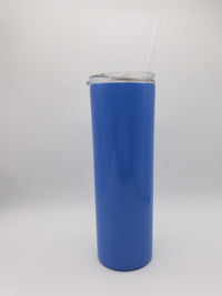 Engraved Skinny Tumbler - 20oz - Blue - Creatively Crowned Engraving