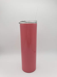 Engraved 20oz Skinny Tumbler Coral - Creatively Crowned Engraving