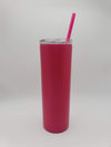 Engraved 20oz Skinny Tumbler Metallic Pink - Creatively Crowned Engraving