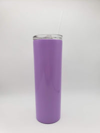 Engraved 20oz Skinny Tumbler Purple