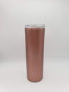 Engraved 20oz Skinny Tumbler Rose Gold