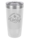 Sweet Land of Liberty Patriotic Engraved Polar Camel Tumbler - 20oz White - Sunny Box