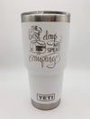 The Best Days Are Spent Camping - Engraved YETI Tumbler - 30oz White