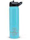 Engraved 27oz SIC Water Bottle Blue Matte - Creatively Crowned Engraving