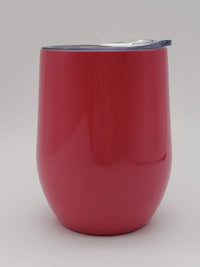 Engraved 9oz Stainless Steel Wine Tumbler Coral