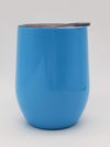 Engraved 9oz Stainless Steel Wine Tumbler Ocean blue