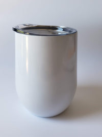 Engraved 9oz Wine Tumbler White