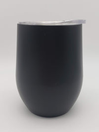 Engraved 9oz Wine Tumbler Black