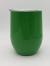 Engraved 9oz Wine Tumbler Green