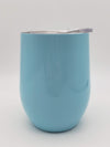 Engraved 9oz Wine Tumbler Light Blue