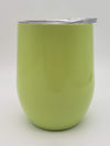 Engraved 9oz Stainless Steel Wine Tumbler Light Green