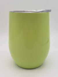Engraved 9oz Stainless Steel Wine Tumbler Light Green - Sunny Box