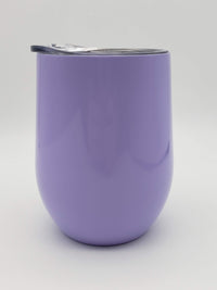 Engraved 9oz Wine Tumbler Light Purple Sunny Box