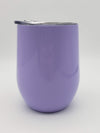 Engraved 9oz Wine Tumbler Light Purple