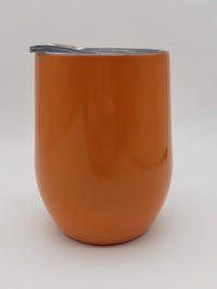 Engraved 9oz Wine Tumbler Orange