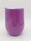 Engraved 9oz Wine Tumbler Purple