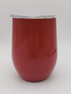 Engraved 9oz Wine Tumbler Red