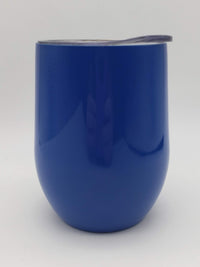 Engraved Stainless Wine Tumbler - 9oz Royal Blue - Sunny Box