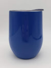 Engraved Wine Tumbler - 9oz - Blue - Creatively Crowned Engraving