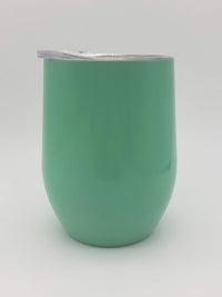 Engraved 9oz Stainless Steel Wine Tumbler Turquoise Sunny Box