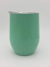 Engraved 9oz Stainless Steel Wine Tumbler Turquoise