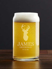 Personalized Engraved Beer Can Glass by Sunny Box