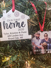 Our First Home - Personalized Photo Ornament - Sunny Box