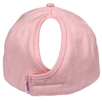 Satin-Lined Light Pink Solid Cotton Cap