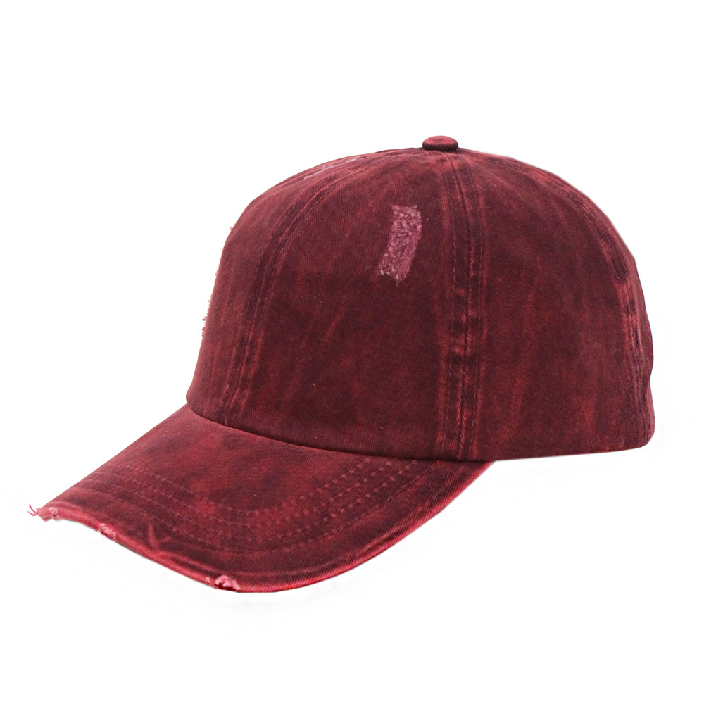 Kelly Distressed Cotton Cap