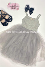 Load image into Gallery viewer, Gray Tank Tulle Dress